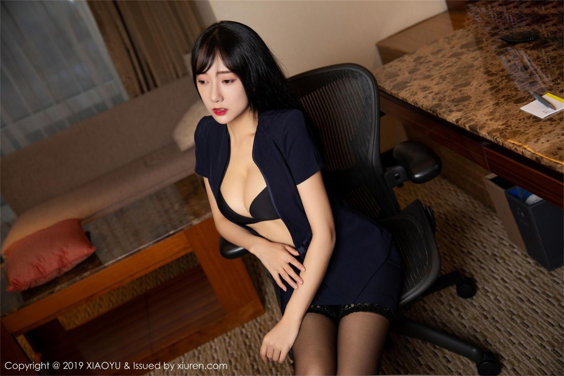 [XiaoYu] Vol.068 He Jia Ying 25P, Black Silk, He Jia Ying, Uniform, XiaoYu