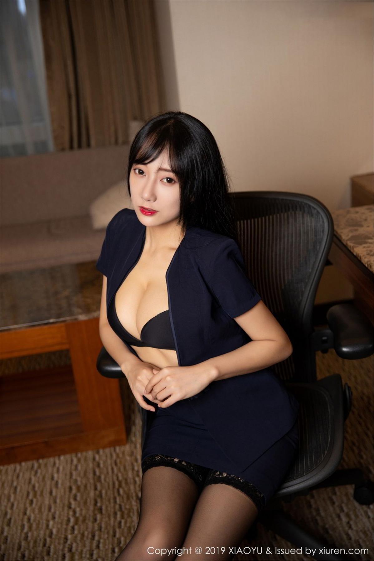 [XiaoYu] Vol.068 He Jia Ying 26P, Black Silk, He Jia Ying, Uniform, XiaoYu