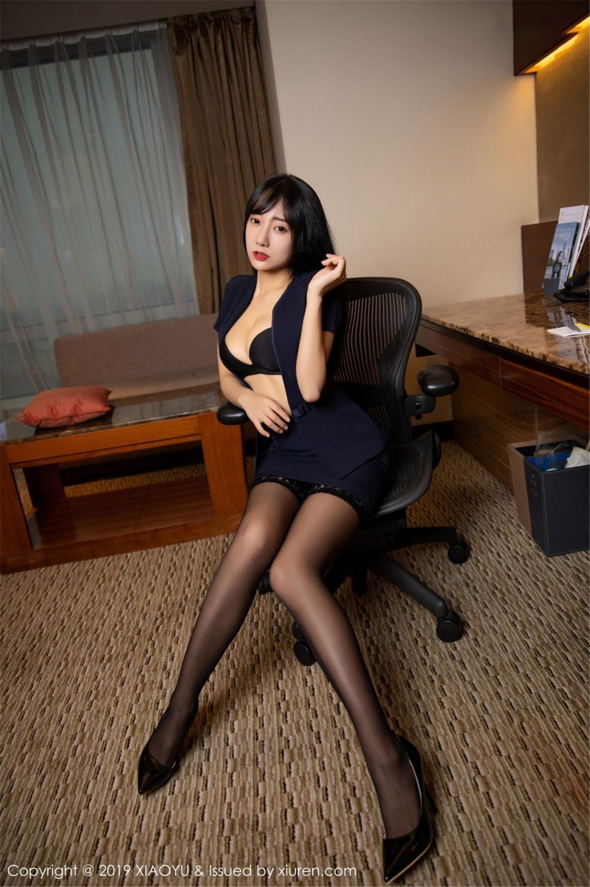 [XiaoYu] Vol.068 He Jia Ying 27P, Black Silk, He Jia Ying, Uniform, XiaoYu
