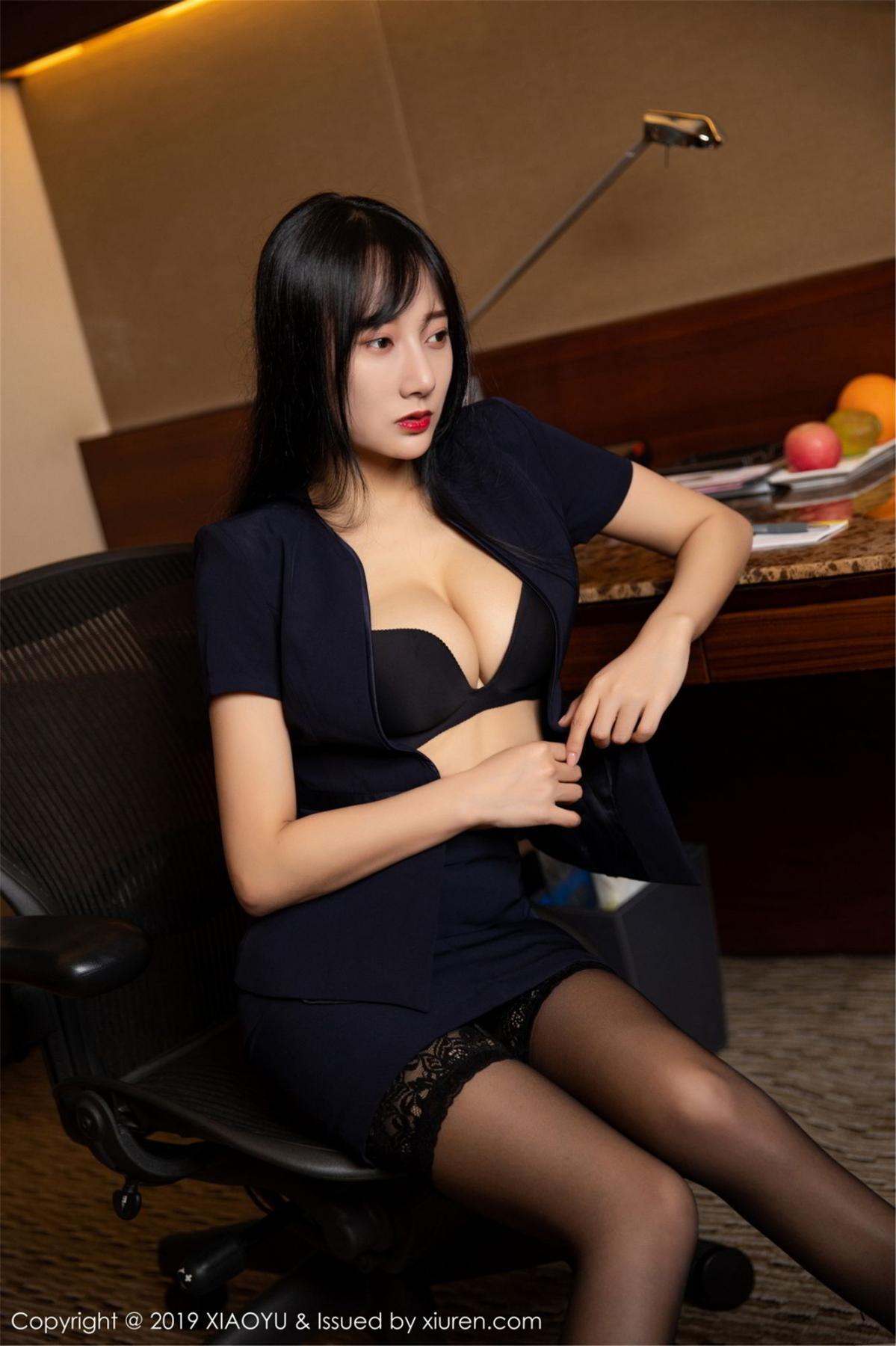 [XiaoYu] Vol.068 He Jia Ying 30P, Black Silk, He Jia Ying, Uniform, XiaoYu