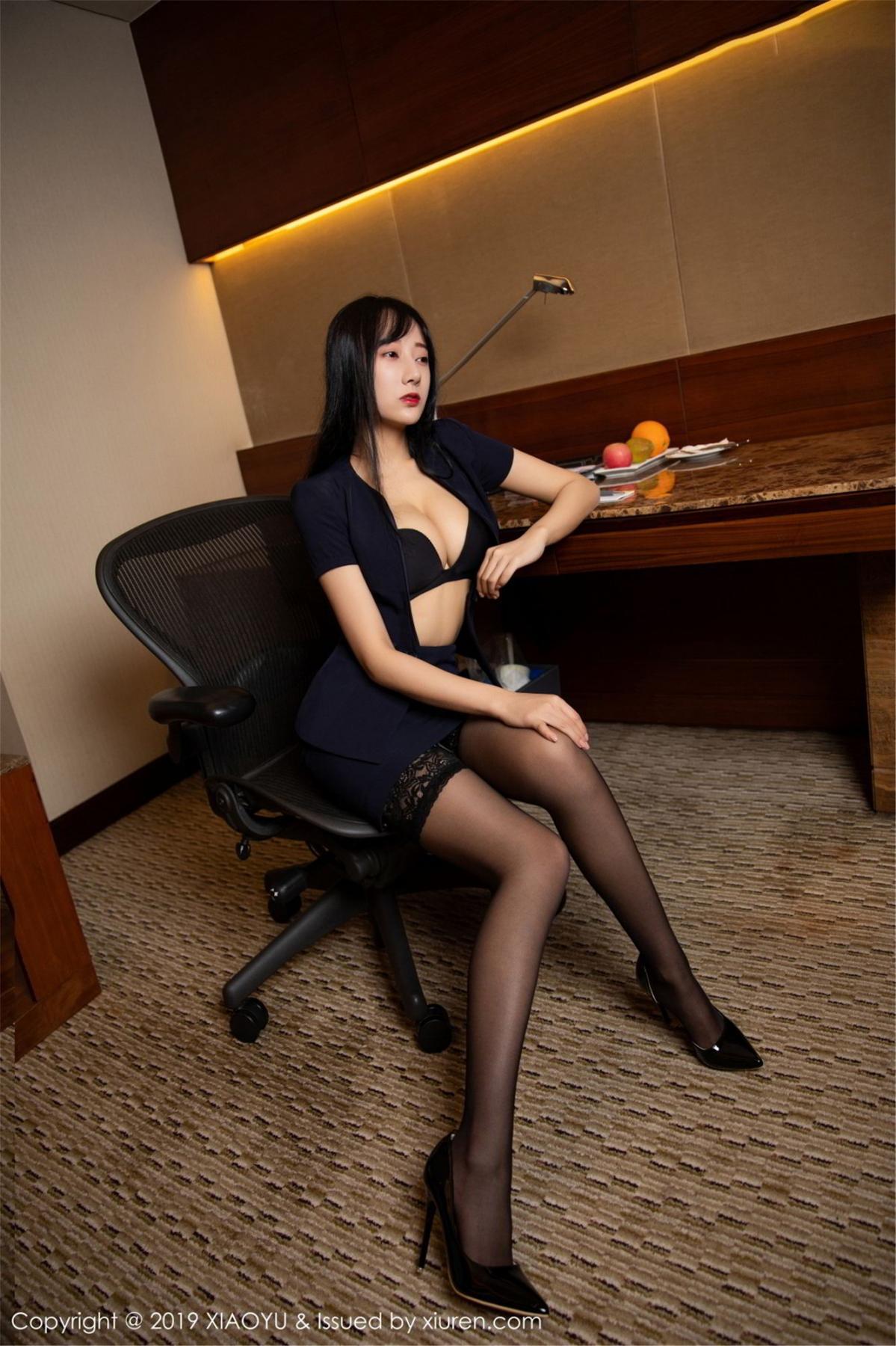 [XiaoYu] Vol.068 He Jia Ying 31P, Black Silk, He Jia Ying, Uniform, XiaoYu