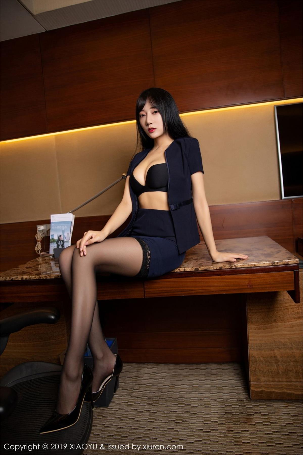 [XiaoYu] Vol.068 He Jia Ying 32P, Black Silk, He Jia Ying, Uniform, XiaoYu