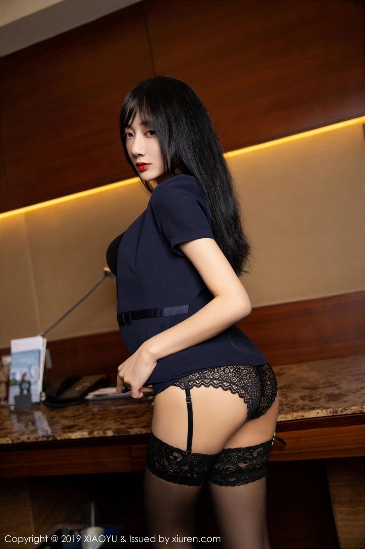 [XiaoYu] Vol.068 He Jia Ying 39P, Black Silk, He Jia Ying, Uniform, XiaoYu