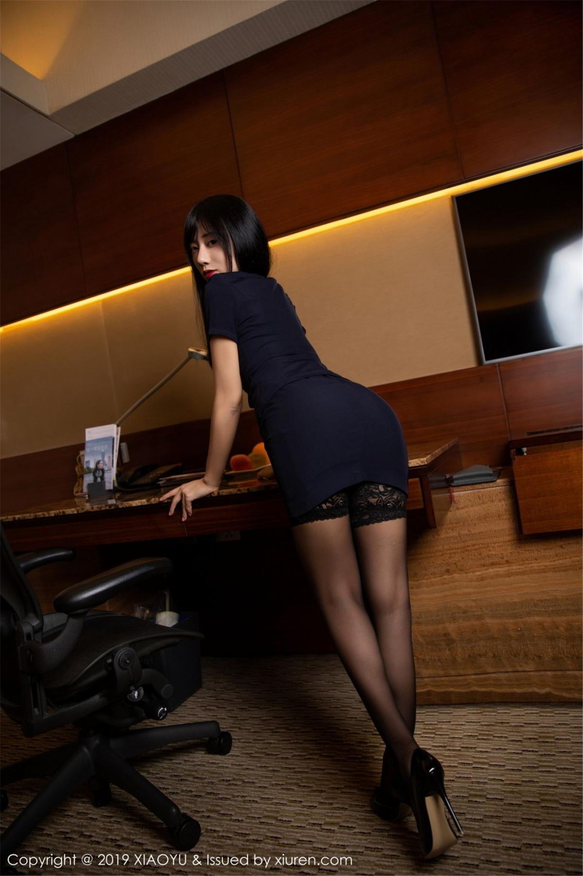 [XiaoYu] Vol.068 He Jia Ying 3P, Black Silk, He Jia Ying, Uniform, XiaoYu