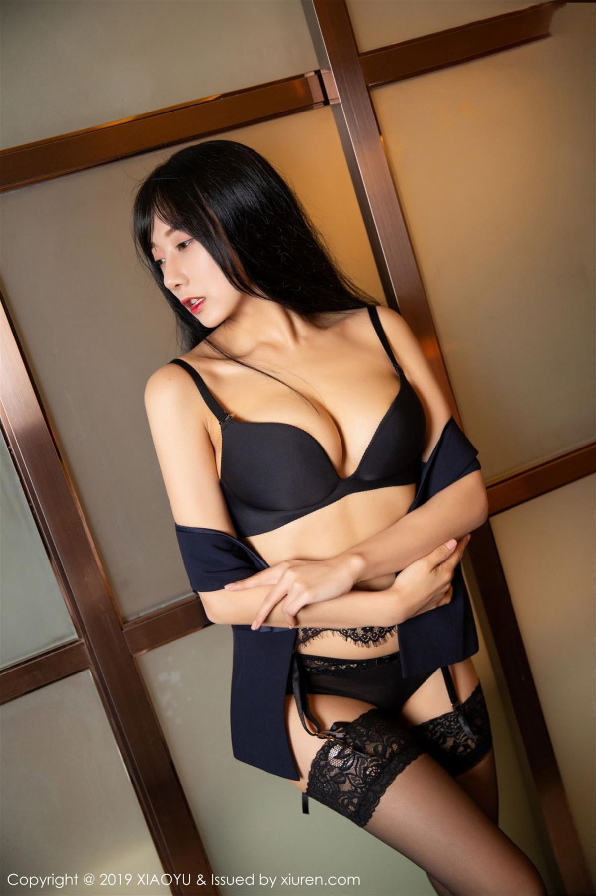 [XiaoYu] Vol.068 He Jia Ying 51P, Black Silk, He Jia Ying, Uniform, XiaoYu