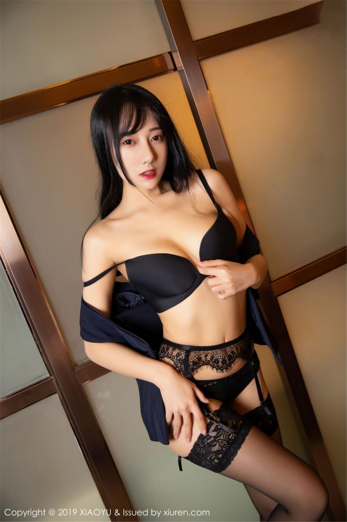 [XiaoYu] Vol.068 He Jia Ying 56P, Black Silk, He Jia Ying, Uniform, XiaoYu