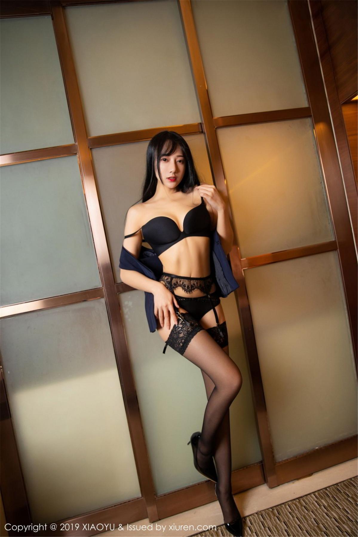 [XiaoYu] Vol.068 He Jia Ying 57P, Black Silk, He Jia Ying, Uniform, XiaoYu