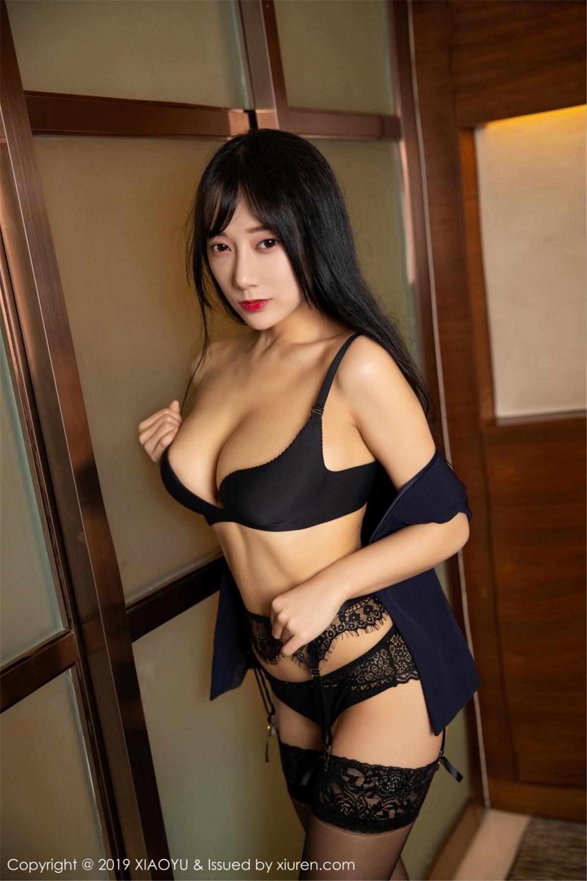 [XiaoYu] Vol.068 He Jia Ying 60P, Black Silk, He Jia Ying, Uniform, XiaoYu