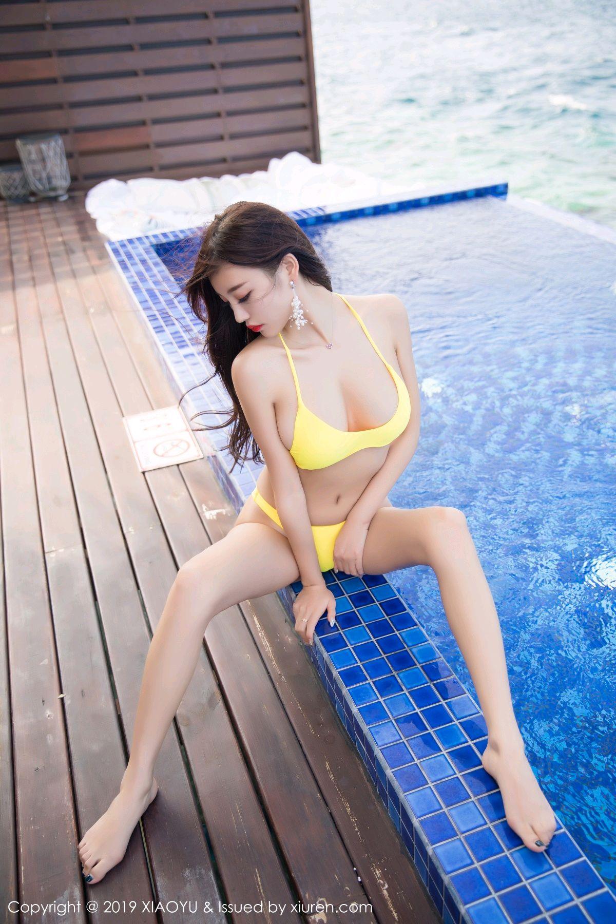 [XiaoYu] Vol.072 sugar 28P, Bikini, Swim Pool, XiaoYu, Yang Chen Chen