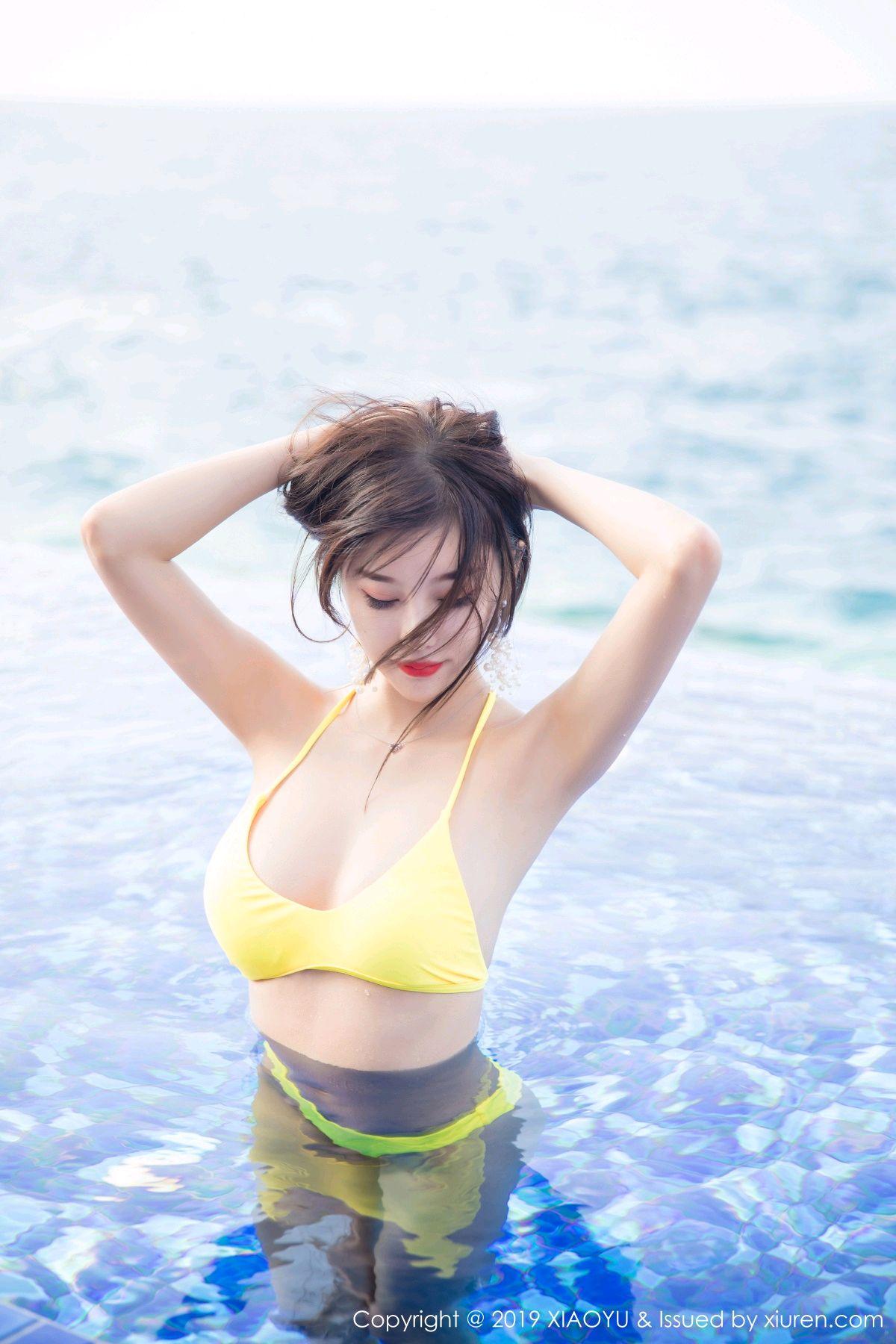 [XiaoYu] Vol.072 sugar 37P, Bikini, Swim Pool, XiaoYu, Yang Chen Chen