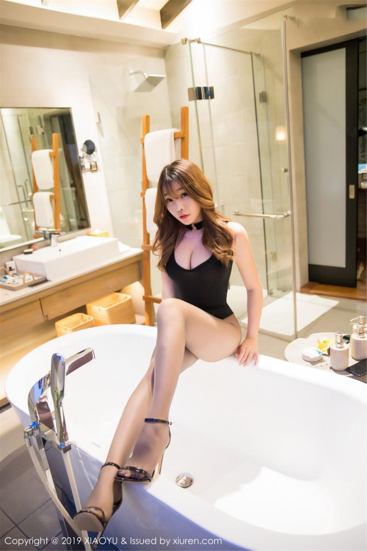[XiaoYu] Vol.073 Chen Zhi 16P, Black Silk, Chen Zhi, Tall, XiaoYu