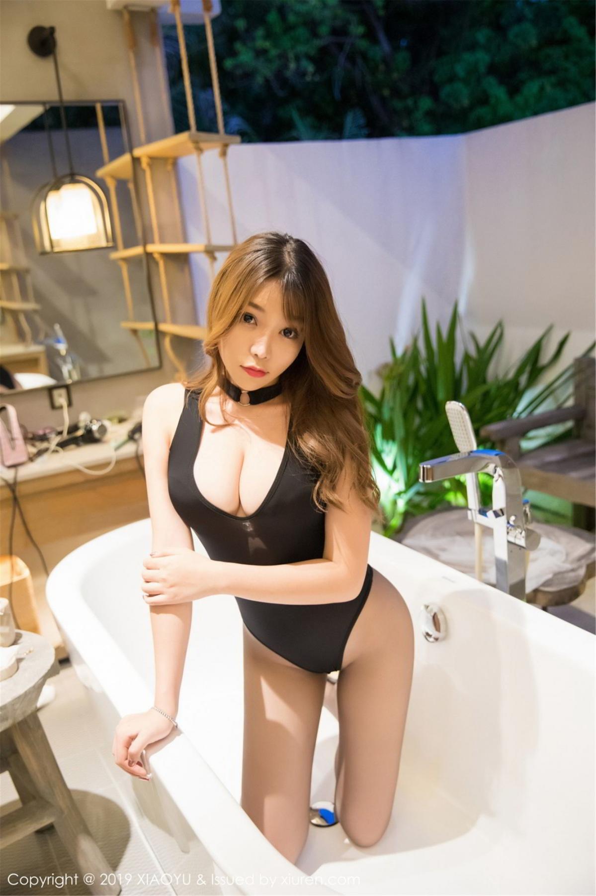 [XiaoYu] Vol.073 Chen Zhi 30P, Black Silk, Chen Zhi, Tall, XiaoYu