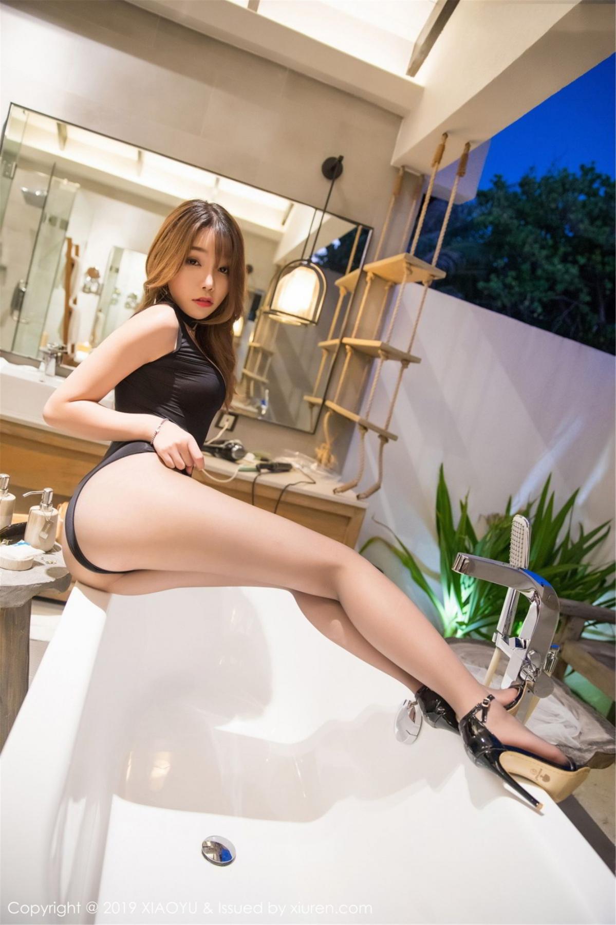 [XiaoYu] Vol.073 Chen Zhi 36P, Black Silk, Chen Zhi, Tall, XiaoYu