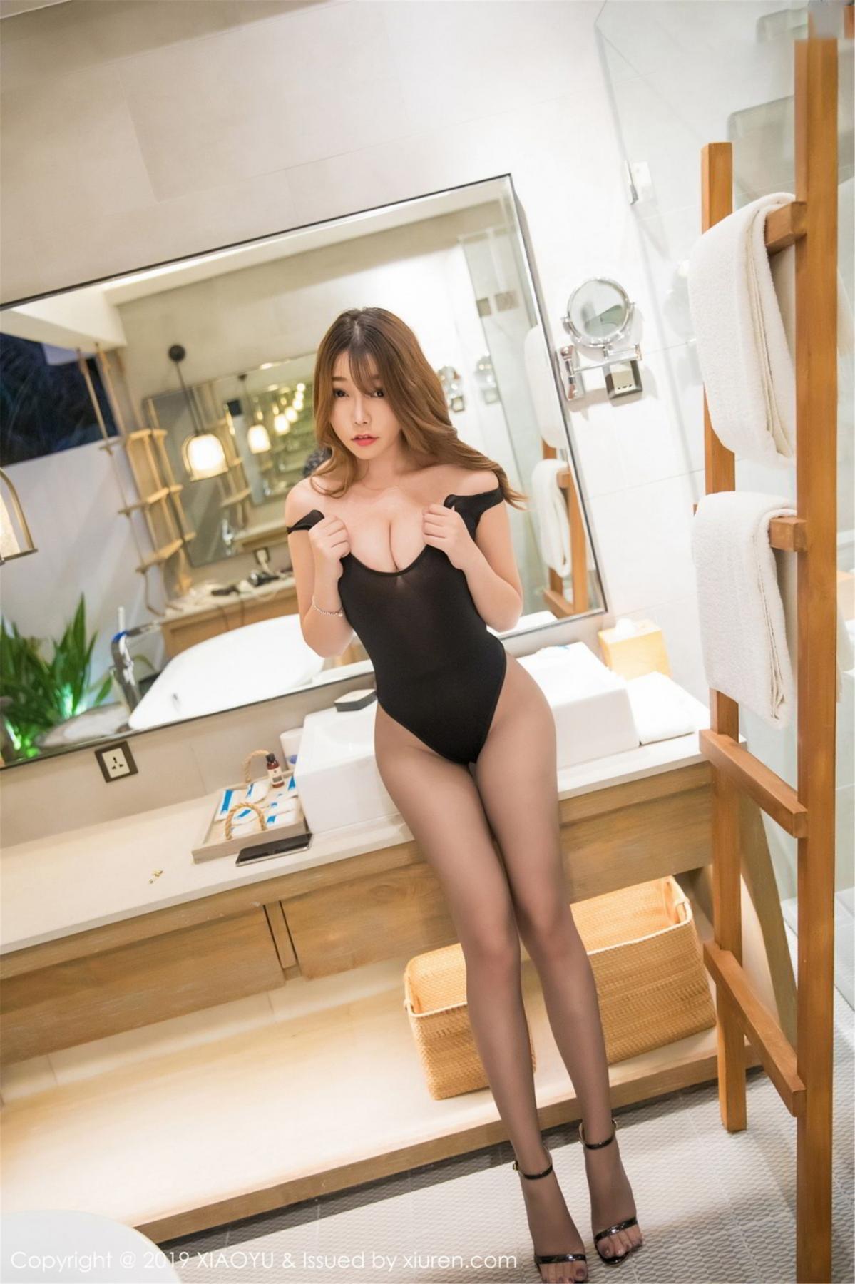 [XiaoYu] Vol.073 Chen Zhi 38P, Black Silk, Chen Zhi, Tall, XiaoYu