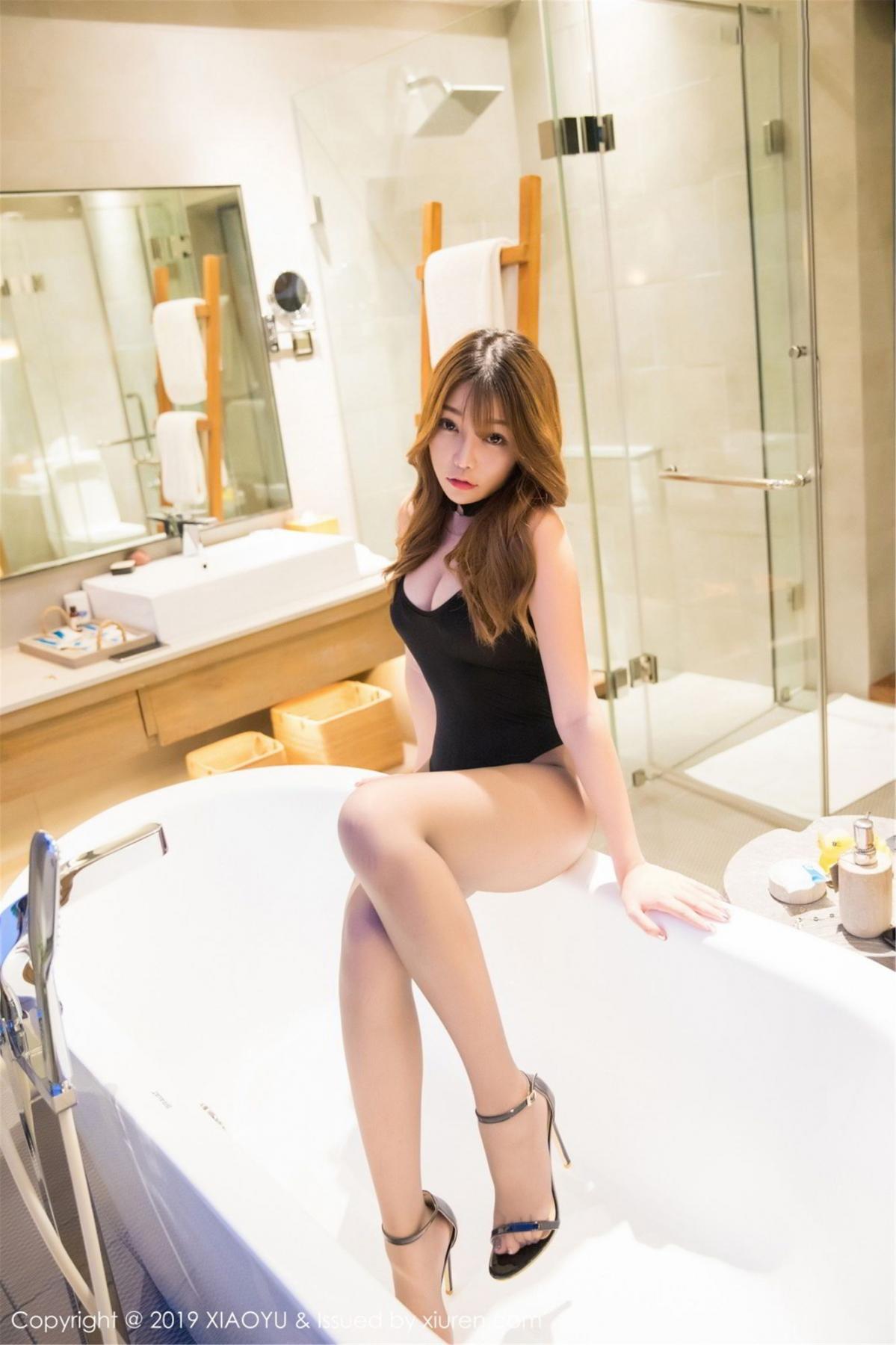 [XiaoYu] Vol.073 Chen Zhi 4P, Black Silk, Chen Zhi, Tall, XiaoYu