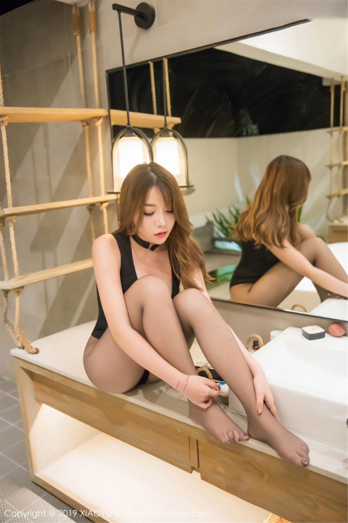 [XiaoYu] Vol.073 Chen Zhi 55P, Black Silk, Chen Zhi, Tall, XiaoYu