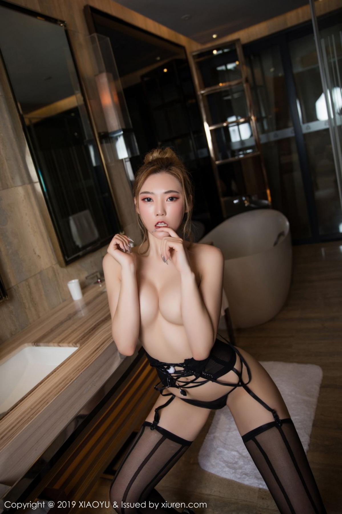 [XiaoYu] Vol.078 Meng Han Yao 17P, Big Booty, Black Silk, Meng Han Yao, XiaoYu