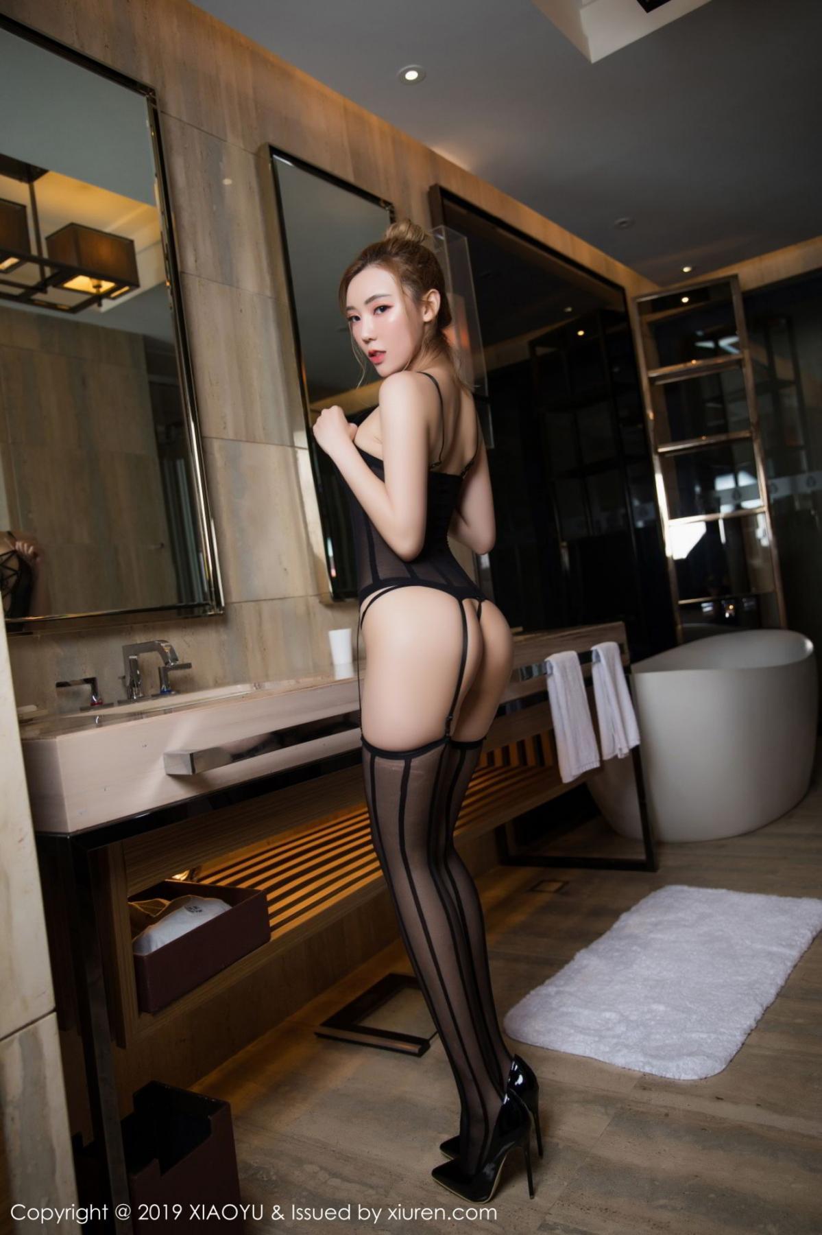 [XiaoYu] Vol.078 Meng Han Yao 2P, Big Booty, Black Silk, Meng Han Yao, XiaoYu