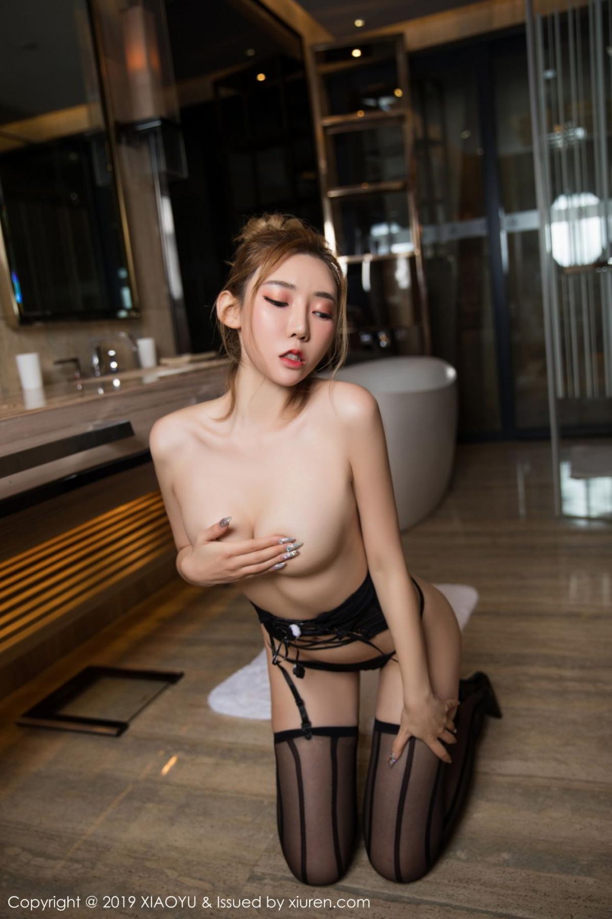 [XiaoYu] Vol.078 Meng Han Yao 31P, Big Booty, Black Silk, Meng Han Yao, XiaoYu