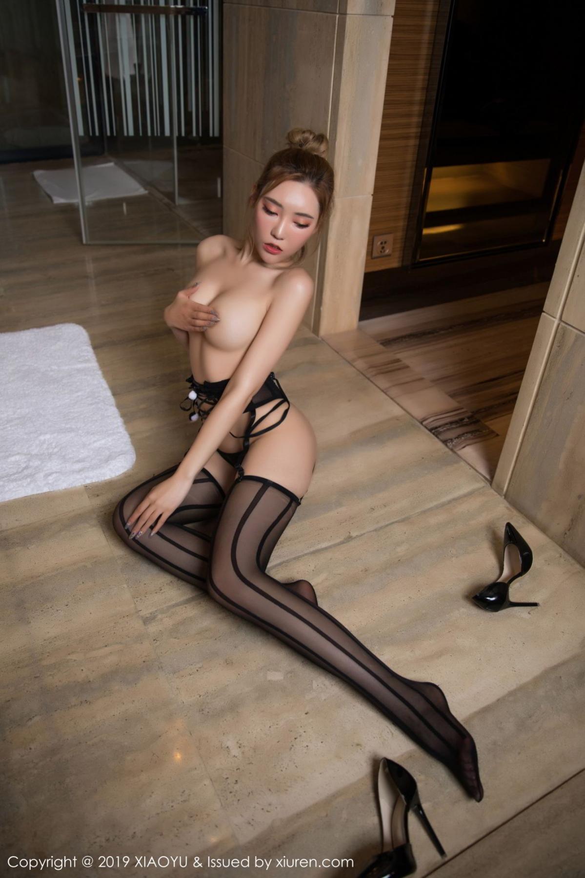 [XiaoYu] Vol.078 Meng Han Yao 44P, Big Booty, Black Silk, Meng Han Yao, XiaoYu