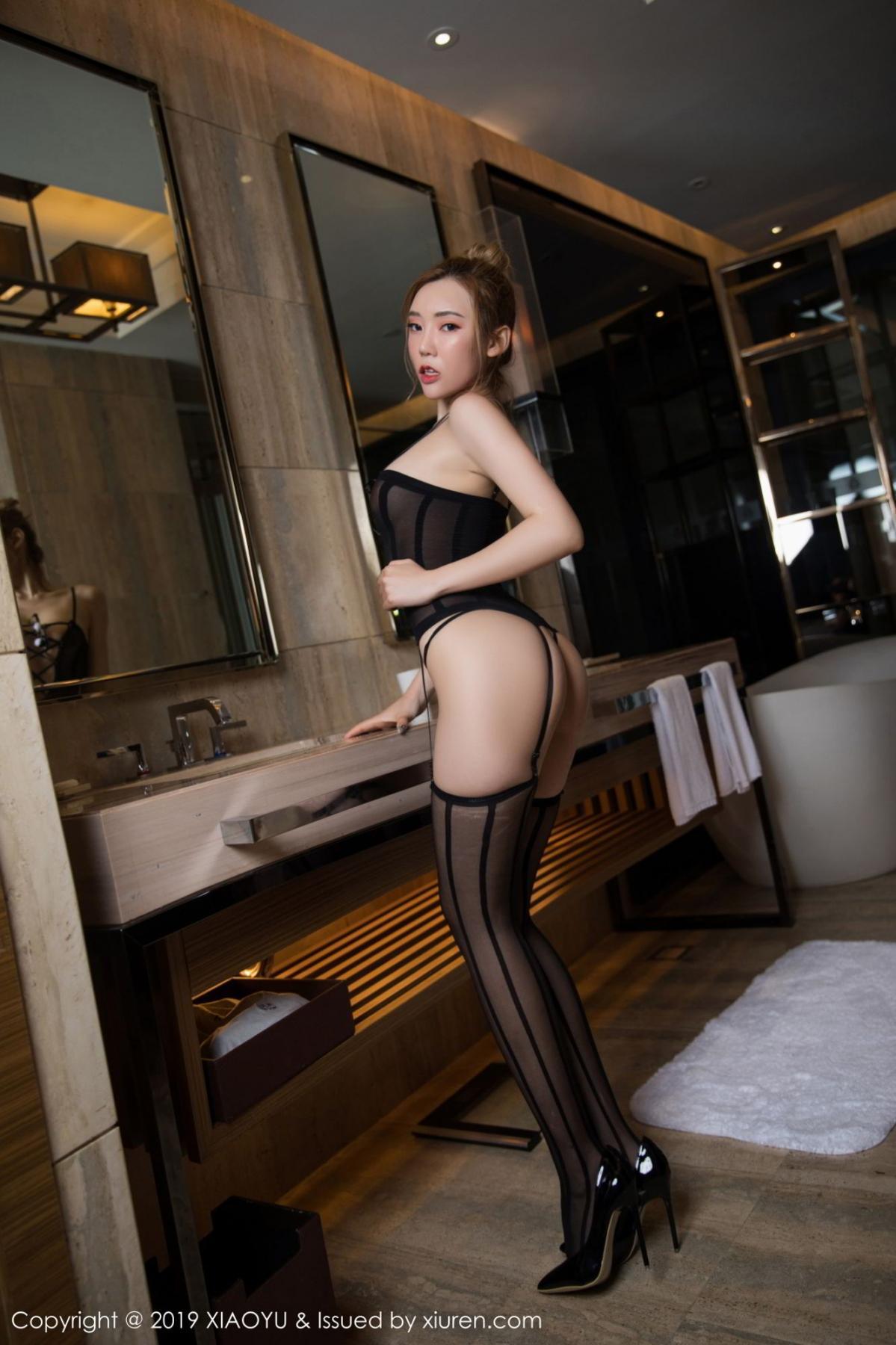 [XiaoYu] Vol.078 Meng Han Yao 4P, Big Booty, Black Silk, Meng Han Yao, XiaoYu