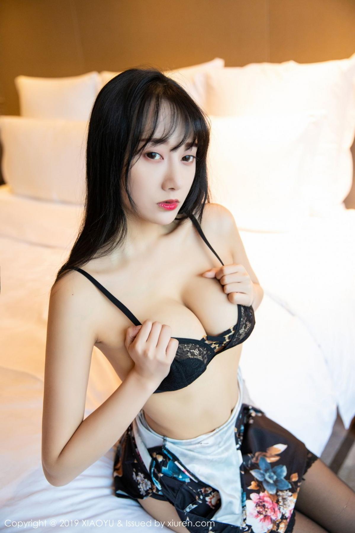 [XiaoYu] Vol.079 He Jia Ying 22P, Black Silk, Cheongsam, He Jia Ying, Tall, Temperament, XiaoYu