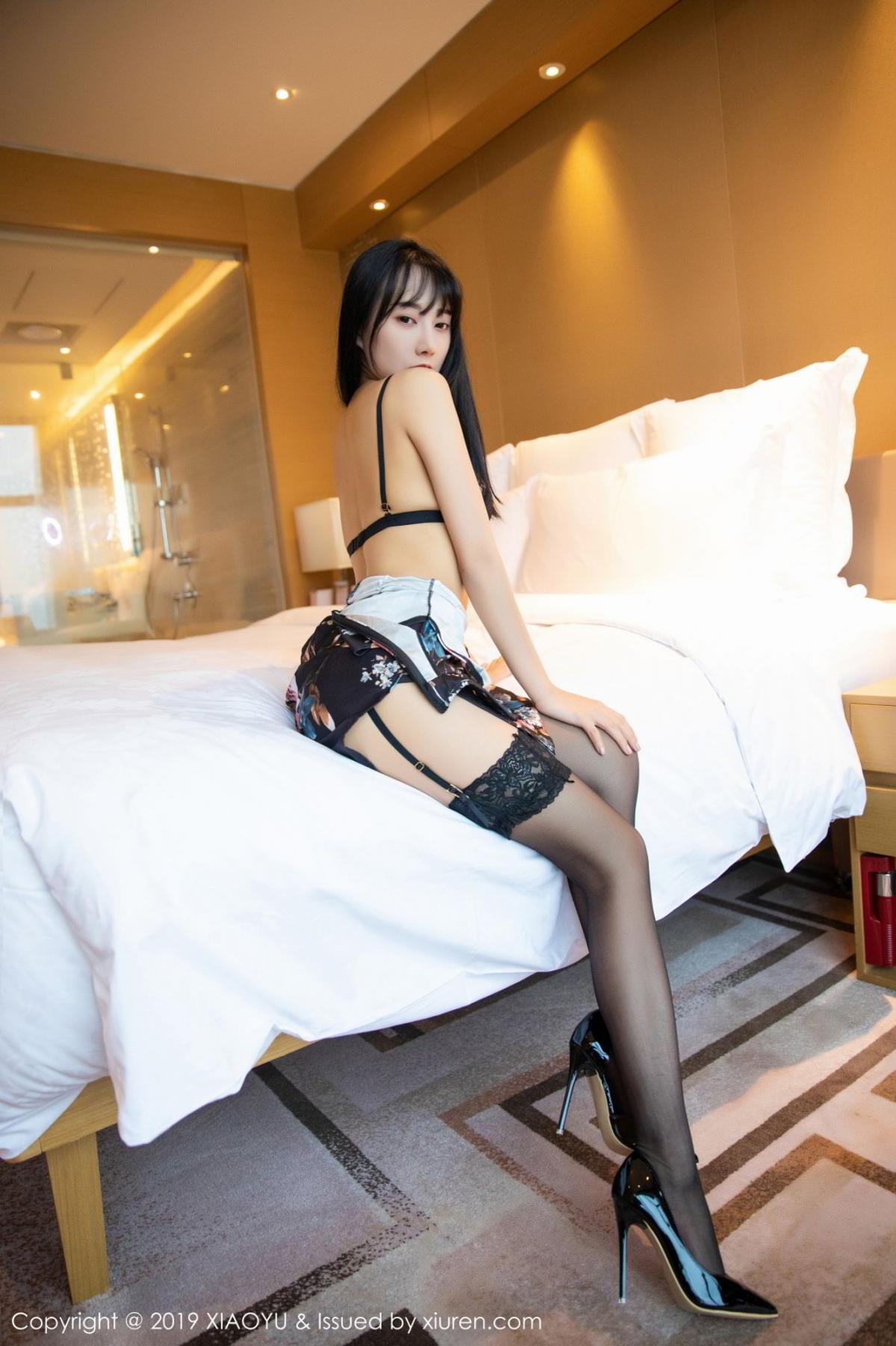 [XiaoYu] Vol.079 He Jia Ying 25P, Black Silk, Cheongsam, He Jia Ying, Tall, Temperament, XiaoYu