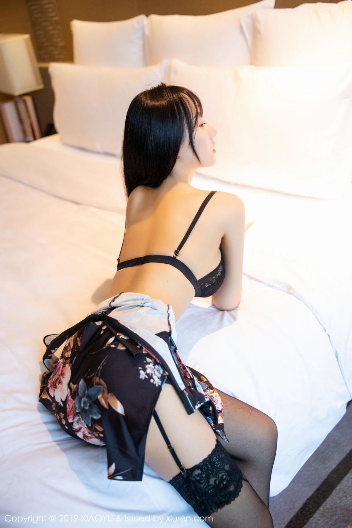 [XiaoYu] Vol.079 He Jia Ying 26P, Black Silk, Cheongsam, He Jia Ying, Tall, Temperament, XiaoYu