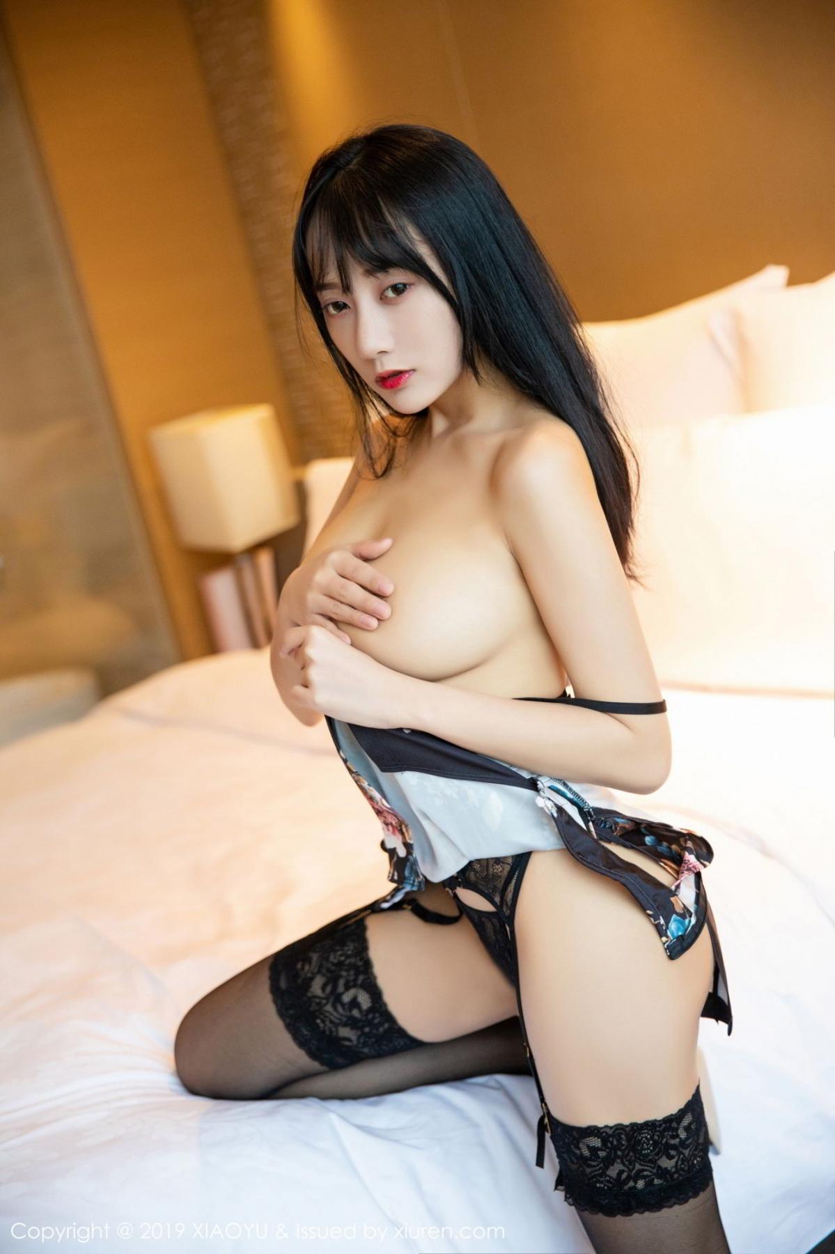 [XiaoYu] Vol.079 He Jia Ying 40P, Black Silk, Cheongsam, He Jia Ying, Tall, Temperament, XiaoYu