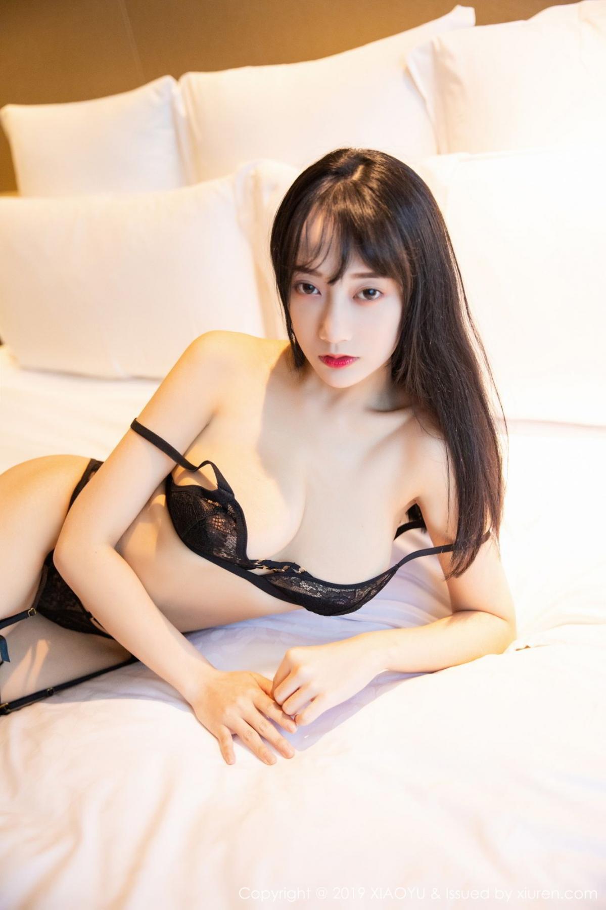 [XiaoYu] Vol.079 He Jia Ying 52P, Black Silk, Cheongsam, He Jia Ying, Tall, Temperament, XiaoYu
