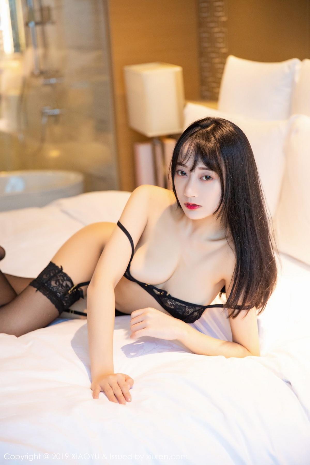[XiaoYu] Vol.079 He Jia Ying 55P, Black Silk, Cheongsam, He Jia Ying, Tall, Temperament, XiaoYu