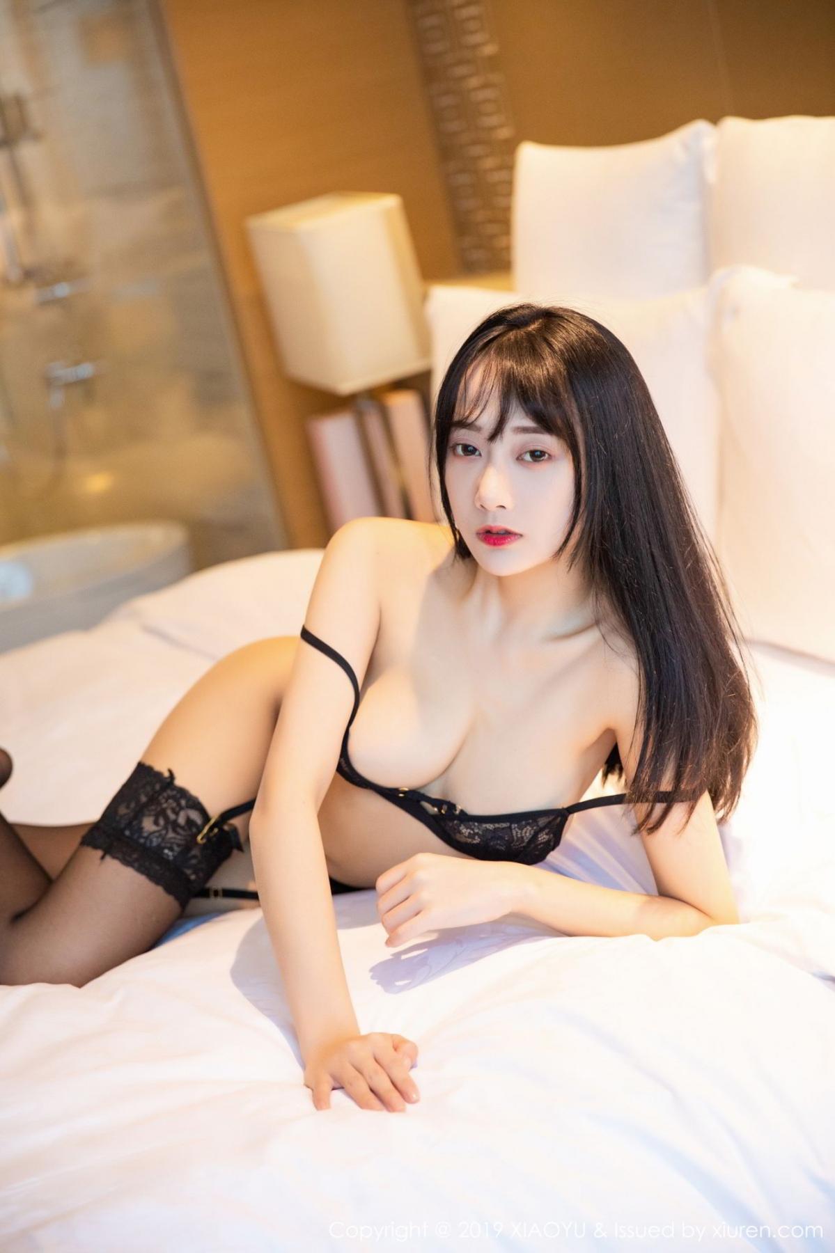 [XiaoYu] Vol.079 He Jia Ying 56P, Black Silk, Cheongsam, He Jia Ying, Tall, Temperament, XiaoYu