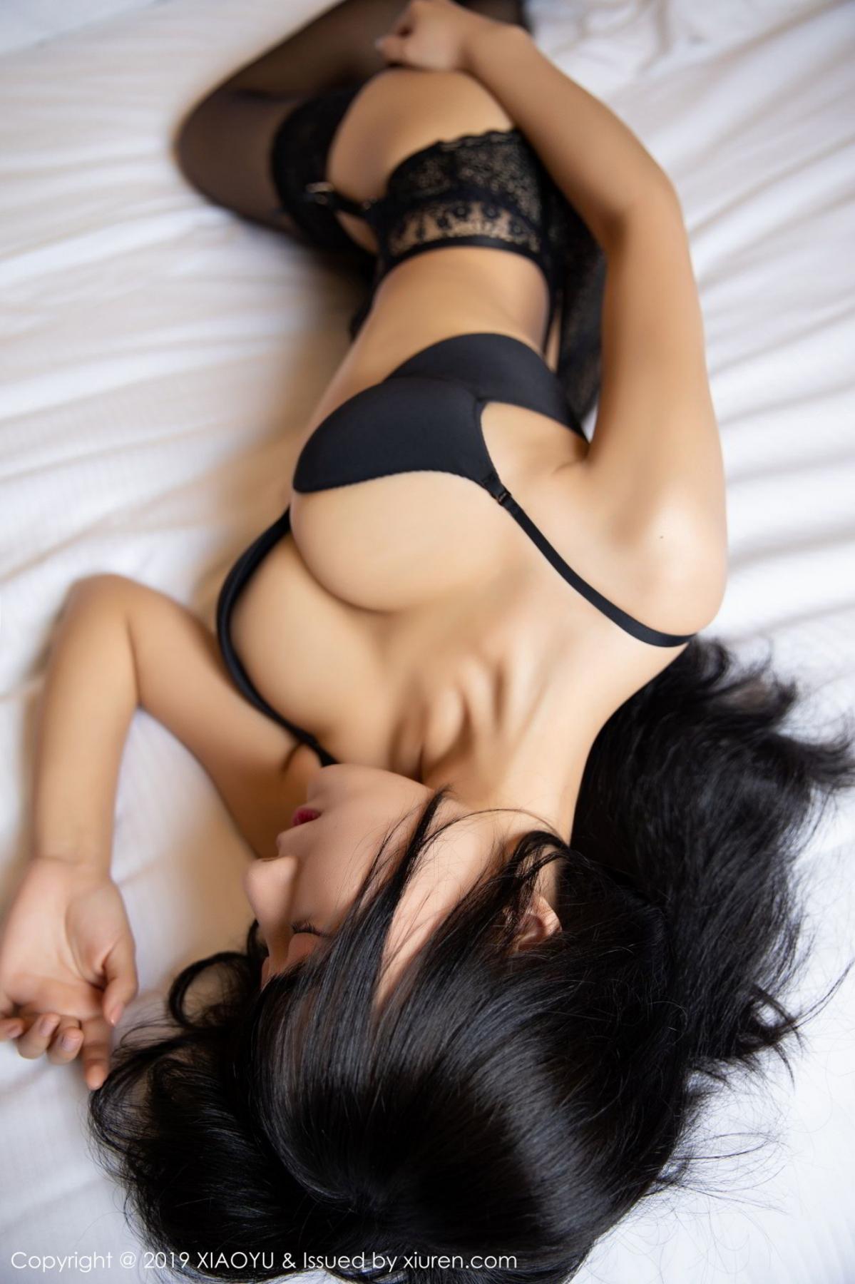 [XiaoYu] Vol.085 He Jia Ying 18P, Black Silk, He Jia Ying, Tall, Underwear, XiaoYu