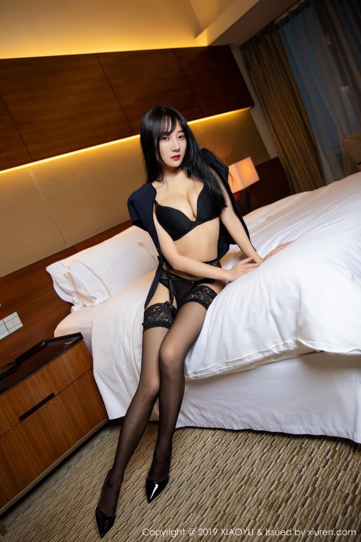 [XiaoYu] Vol.085 He Jia Ying 1P, Black Silk, He Jia Ying, Tall, Underwear, XiaoYu