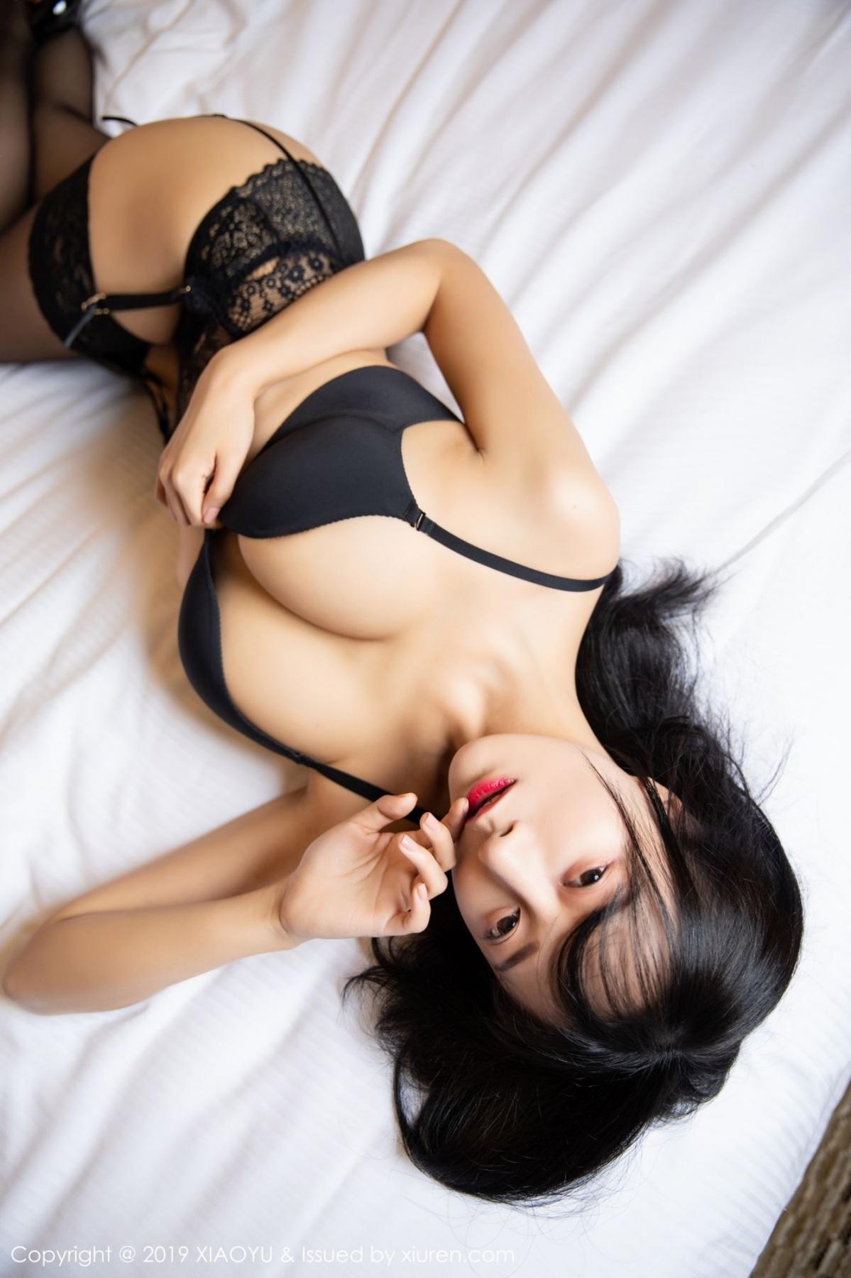 [XiaoYu] Vol.085 He Jia Ying 20P, Black Silk, He Jia Ying, Tall, Underwear, XiaoYu