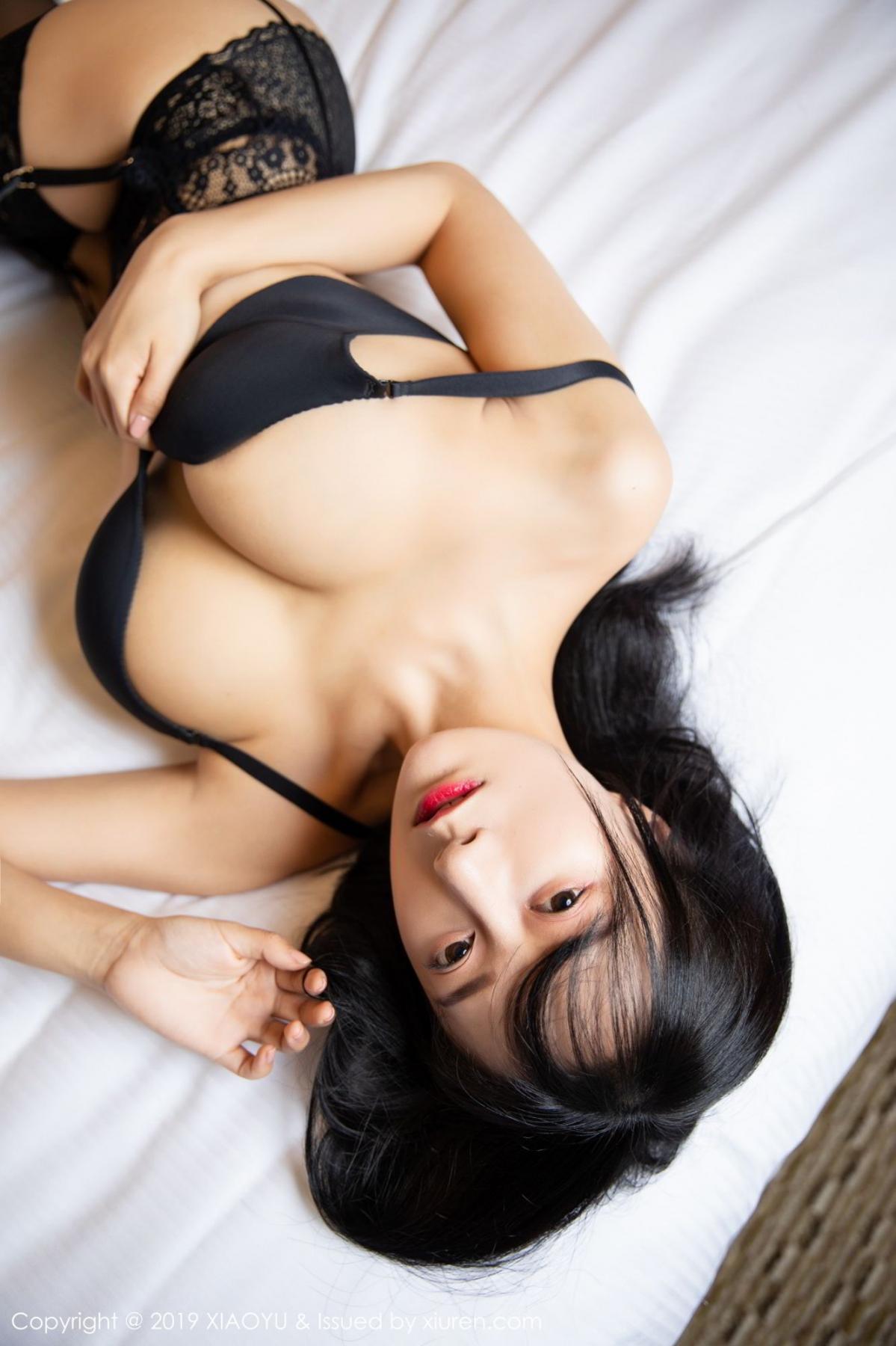 [XiaoYu] Vol.085 He Jia Ying 21P, Black Silk, He Jia Ying, Tall, Underwear, XiaoYu