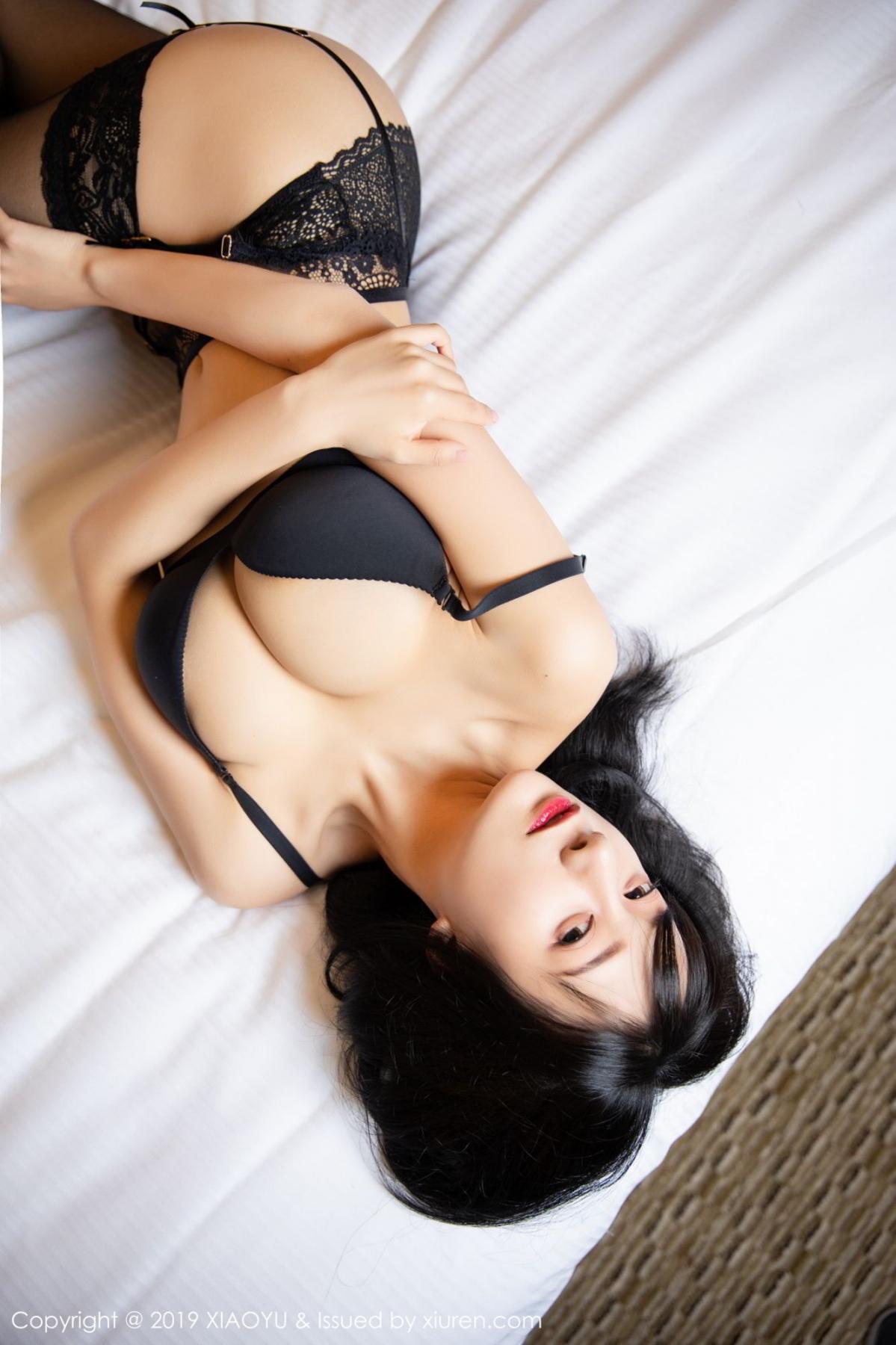 [XiaoYu] Vol.085 He Jia Ying 22P, Black Silk, He Jia Ying, Tall, Underwear, XiaoYu