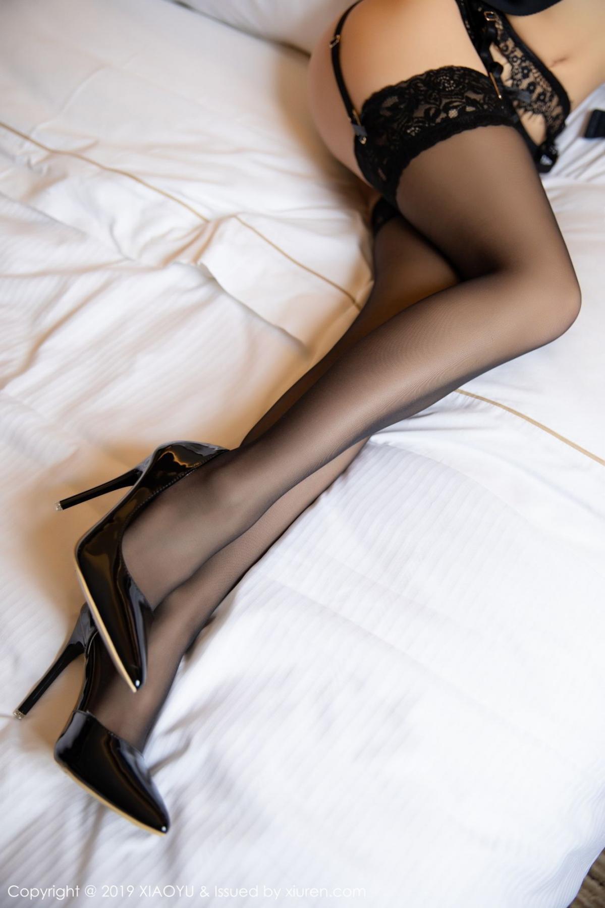 [XiaoYu] Vol.085 He Jia Ying 26P, Black Silk, He Jia Ying, Tall, Underwear, XiaoYu