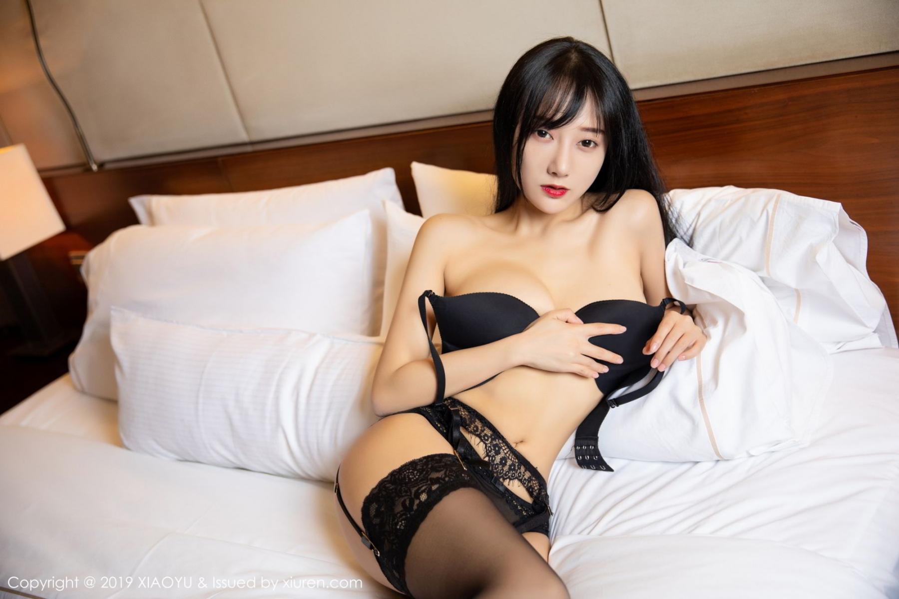 [XiaoYu] Vol.085 He Jia Ying 29P, Black Silk, He Jia Ying, Tall, Underwear, XiaoYu