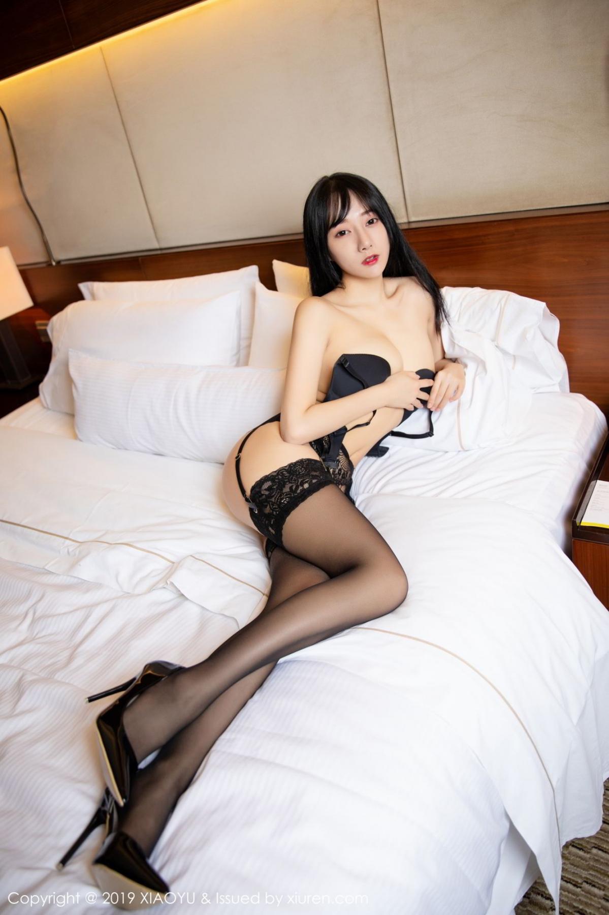 [XiaoYu] Vol.085 He Jia Ying 33P, Black Silk, He Jia Ying, Tall, Underwear, XiaoYu