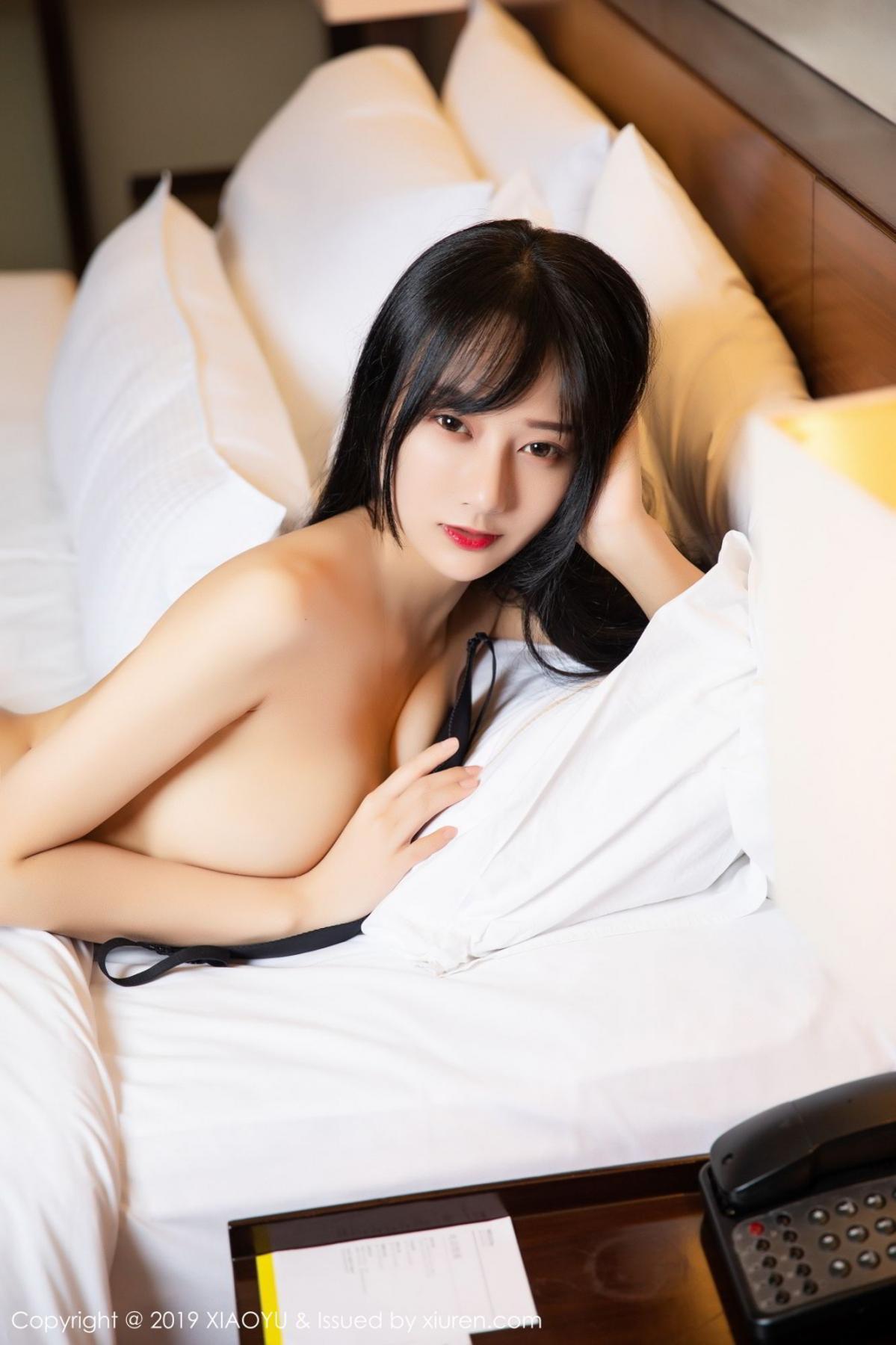 [XiaoYu] Vol.085 He Jia Ying 38P, Black Silk, He Jia Ying, Tall, Underwear, XiaoYu