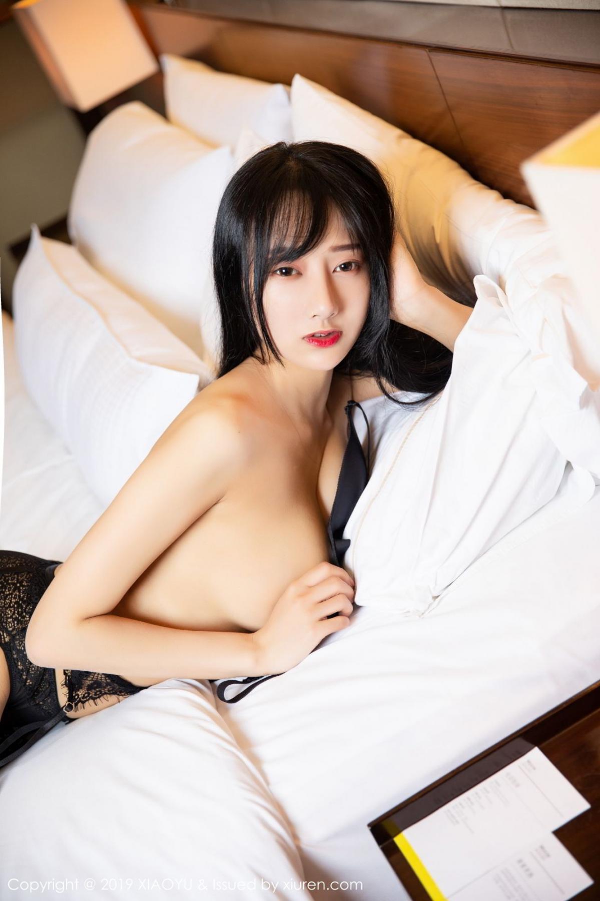 [XiaoYu] Vol.085 He Jia Ying 39P, Black Silk, He Jia Ying, Tall, Underwear, XiaoYu
