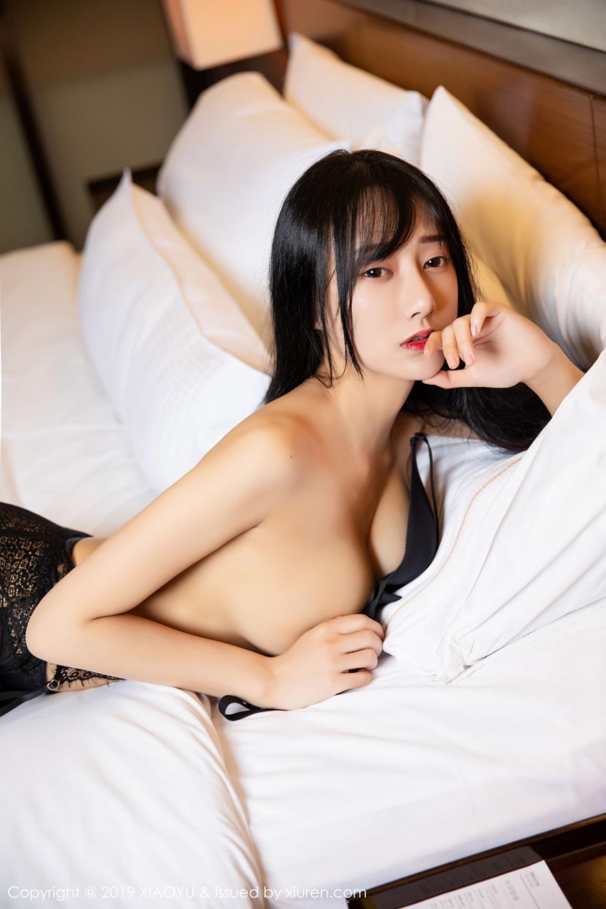 [XiaoYu] Vol.085 He Jia Ying 40P, Black Silk, He Jia Ying, Tall, Underwear, XiaoYu