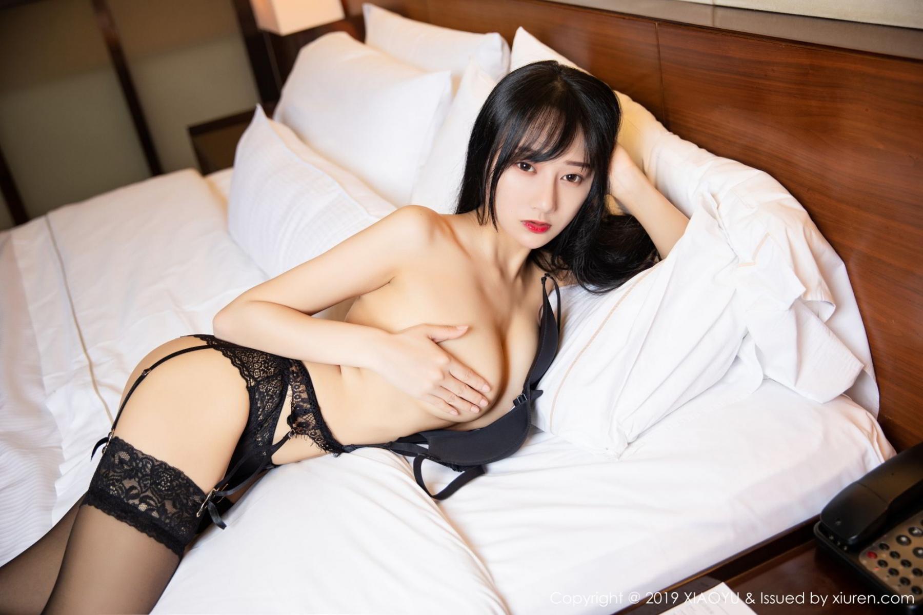 [XiaoYu] Vol.085 He Jia Ying 41P, Black Silk, He Jia Ying, Tall, Underwear, XiaoYu