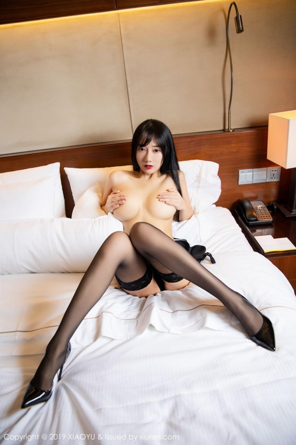 [XiaoYu] Vol.085 He Jia Ying 57P, Black Silk, He Jia Ying, Tall, Underwear, XiaoYu