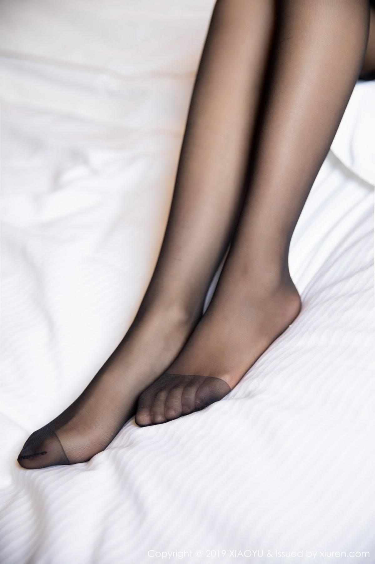[XiaoYu] Vol.085 He Jia Ying 63P, Black Silk, He Jia Ying, Tall, Underwear, XiaoYu