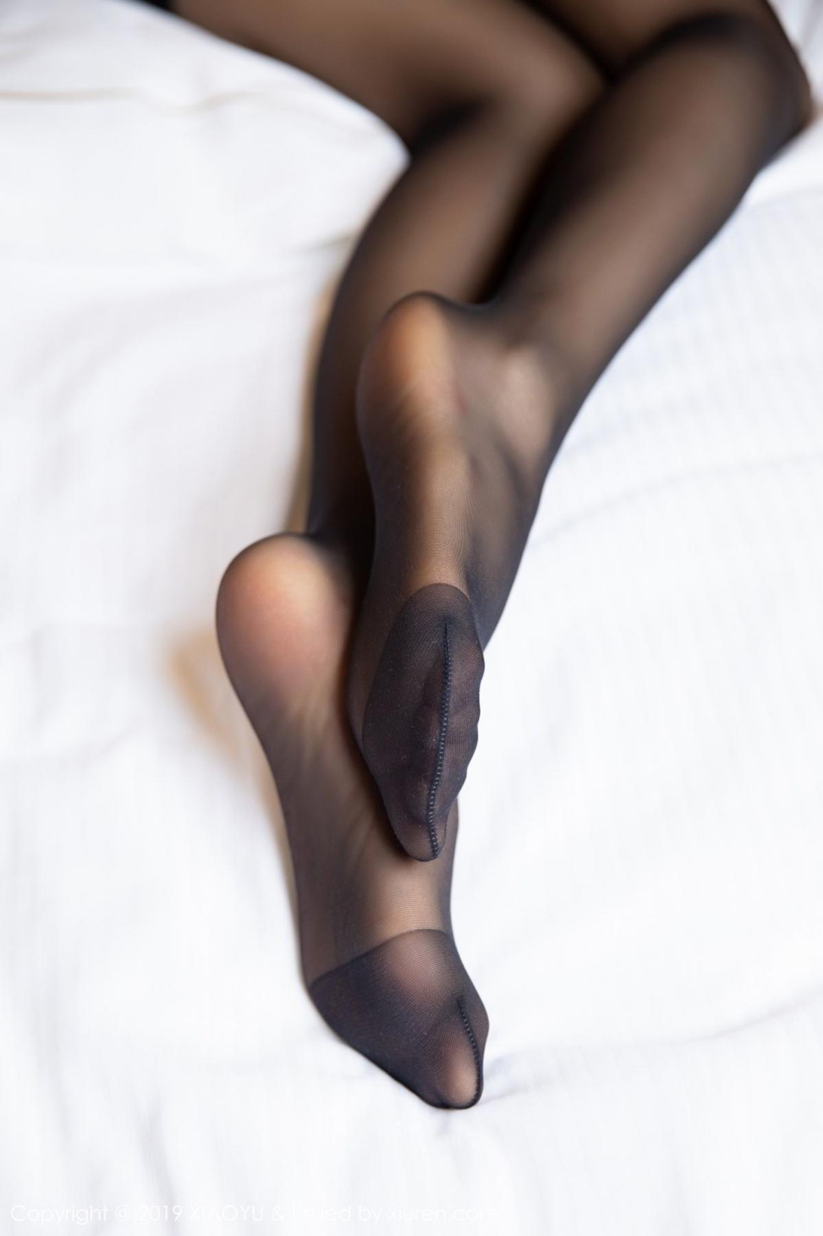 [XiaoYu] Vol.085 He Jia Ying 66P, Black Silk, He Jia Ying, Tall, Underwear, XiaoYu
