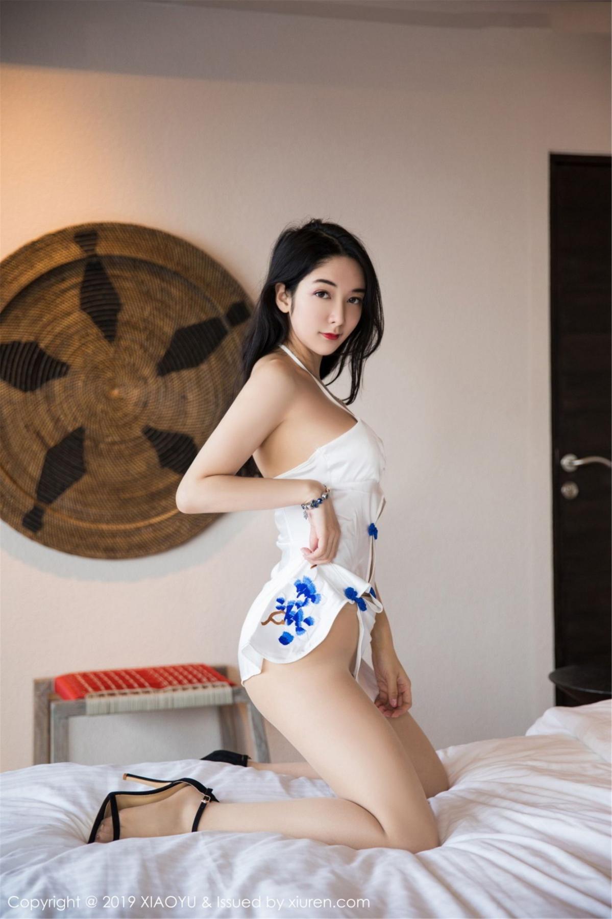 [XiaoYu] Vol.088 Di Yi 20P, Big Booty, Black Silk, Cheongsam, Di Yi, Tall, XiaoYu