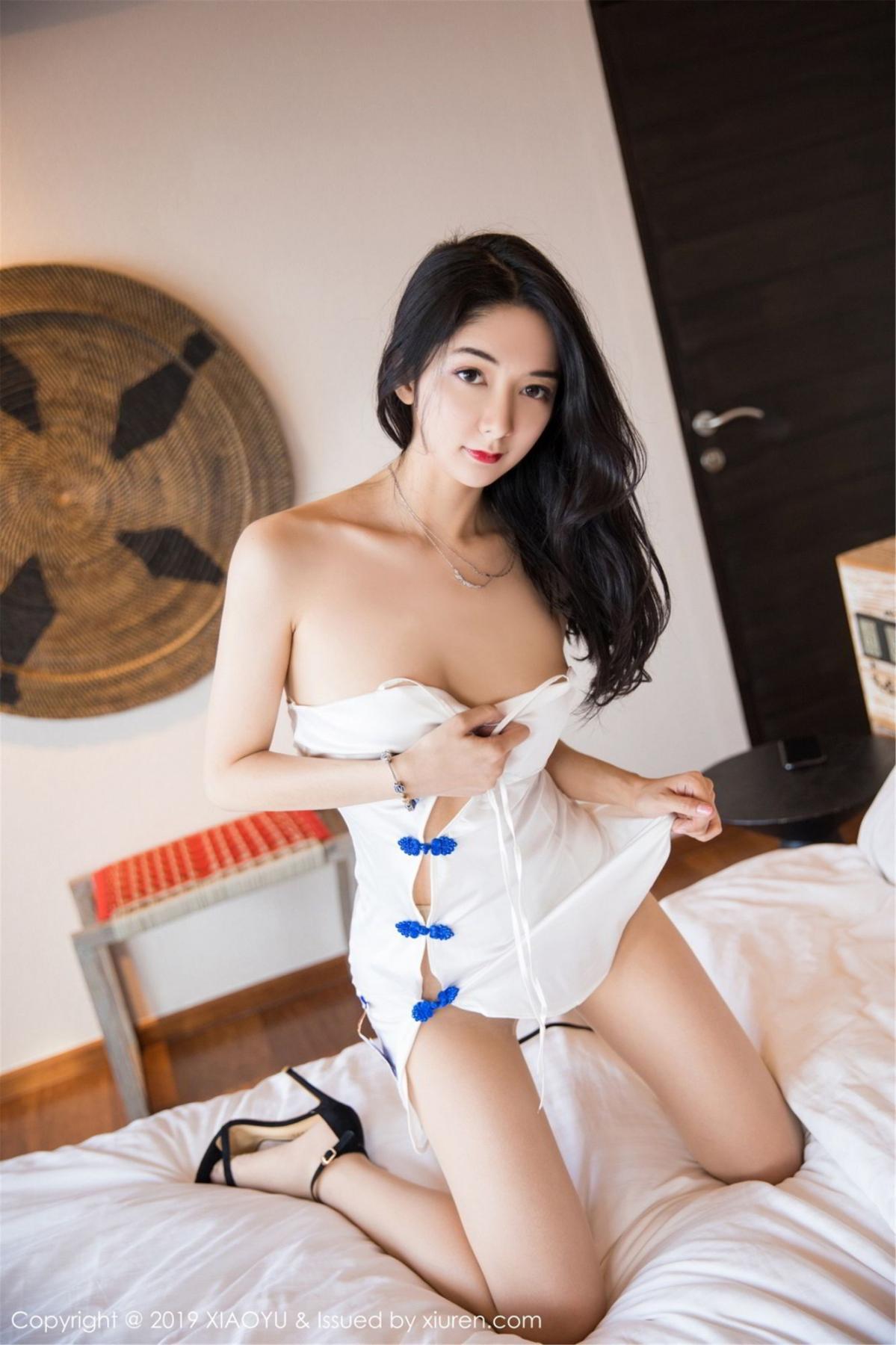 [XiaoYu] Vol.088 Di Yi 26P, Big Booty, Black Silk, Cheongsam, Di Yi, Tall, XiaoYu