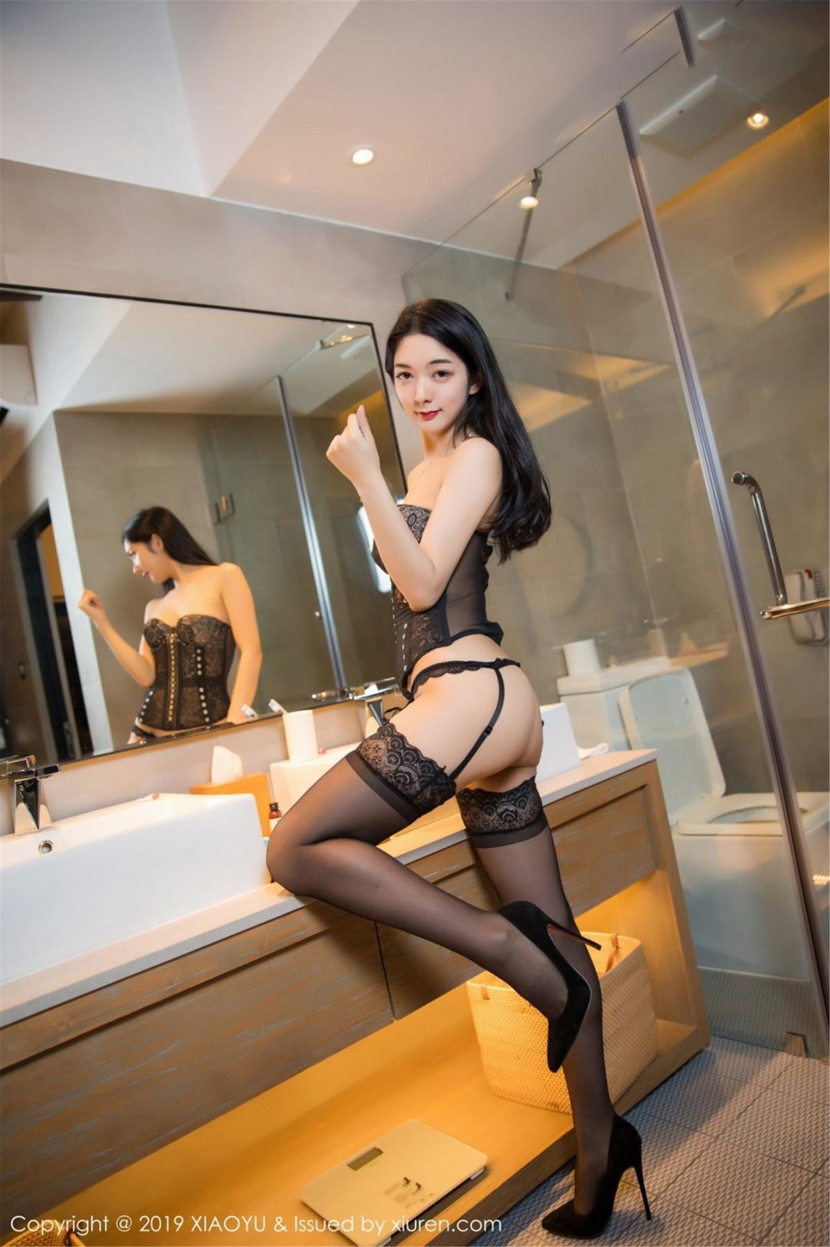 [XiaoYu] Vol.088 Di Yi 38P, Big Booty, Black Silk, Cheongsam, Di Yi, Tall, XiaoYu